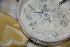 Remouladesaus heerlijk bij gebakken of gefrituurde vis zoals bijvoorbeeld kibbeling