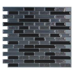 "Smart Tiles Mosaik 9.1"" x 10.2"" Mosaic Tile in Multi"