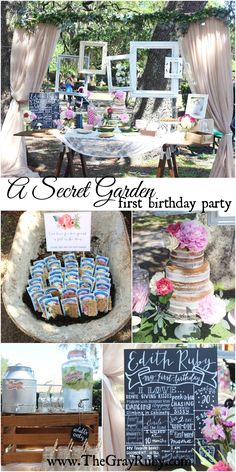 A Secret Garden First Birthday Party – The Gray Ruby Diaries