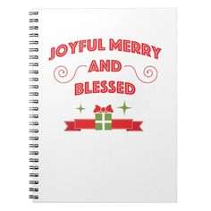 Joyful Merry And Blessed Christmas Kids Men Women Notebook Custom Office Party #office #partyplanning