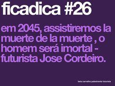 #FICADICA 26, tá colecionando?  Obrigada ao futurista Jose Cordeiro. #FUTURO #FUTURAR #FUTURISTA #GERAÇÕES #INOVAÇÃO #beiacarvalho