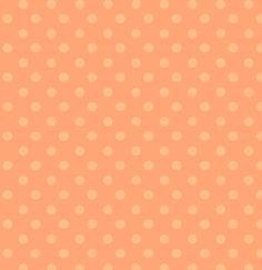 Designer Beads Small Polka Dot Fabric Pastel Peach