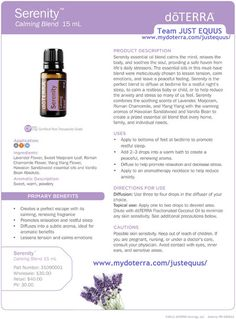 doTERRA 'SERENITY' CPTG Essential Oil Blend