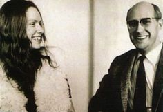 A rare photo of Mstislav Rostropovich with his pupil, Jacqueline du Pré, smiling after a masterclass at the Moscow Conservatory, 1966.