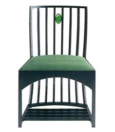 a chair designed in 1904 by charles rennie mackintosh 1868 1928 for the hill house in. Black Bedroom Furniture Sets. Home Design Ideas