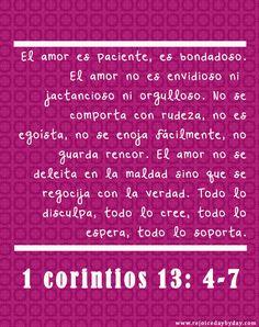 1 corintios 13:4-7 | Rejoice daybyday