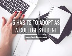 They say it takes around 21 days to form a habit. In college, you're going to be learning and doing new things constantly, but it's helpful to take the time to adopt routines and habits…