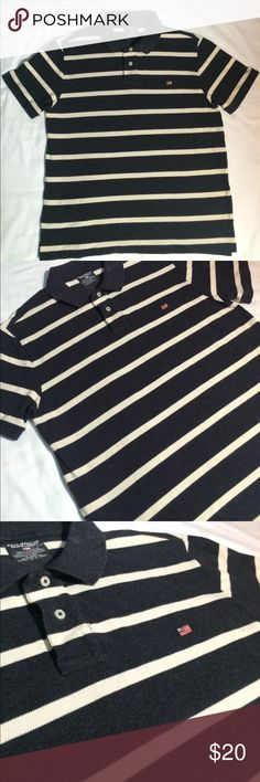 VTG polo jeans co. By Ralph Lauren polo!! Amazing! In amazing condition, no flaws! Beautiful polo jeans co. Polo with small RL flag on left breast. Gray with white stripes. Condition: 10/10 Sz. XL Polo by Ralph Lauren Shirts Polos
