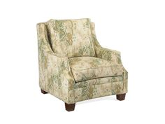 Shop for John Richard Upholstered Arm Chair-No Skirt, SOC-1004-10-D478, and other Living Room Chairs at High Country Furniture & Design in Waynesville, NC - North Carolina. Shown With No Skirt In D478 Fabric Inside Seat 24''W X 19''D, Seat 25''H, Arm24''H. Nail Head Trim Option - $50 Upcharge -1. Brass 2.