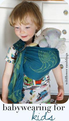 babywearing for kids - Wildflower Ramblings