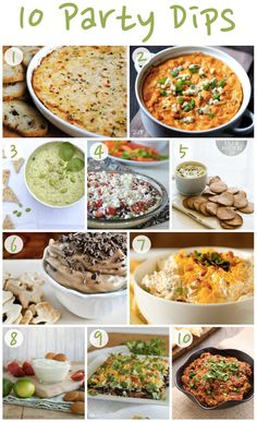 The Fourth of July may be over, but there are still plenty of opportunities to entertain this summer! Whip up one of these party dips at your next get-together. {1} Thats Some Good Cookin Hot Crab Dip {2} Gimme Some Oven Skinny Buffalo Chicken Dip {3} everygoodthing Edamame Dip {4}