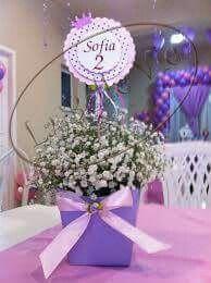 Centro de mesa Sofía Princess Sofia Birthday, Sofia The First Birthday Party, Princess Theme, Baby Shower Princess, Birthday Fun, Princesa Sophia, Ideas Para Fiestas, First Birthdays, Party Time