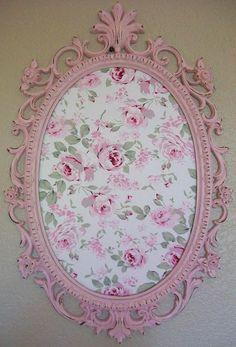 SHABBY CHIC-COTTAGE-Nursery-Girls-Room Decor-Baroque Ornate Vintage Frame Magnetic Board-Bulletin Board-Chalkboard. $174.00, via Etsy.