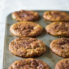 Cinnamon Swirl Banana Muffins - incredibly soft + flavorful.