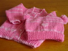 Knitted Baby Sweater and Hat Handmade Bonnet Infant by ihunt, $29.99