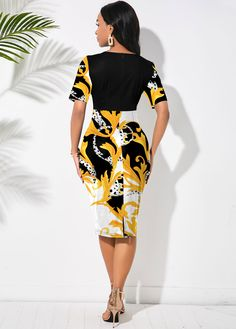 ROTITA Floral Print Short Sleeve Round Neck Dress dresses with boots, macy dresses formal, vinatge dresses #dressesinspiration #dressesforme #dresses4less, dried orange slices, yule decorations, scandinavian christmas Dresses For Sale, Nice Dresses, Summer Dresses, Fitted Dresses, Latest Fashion Dresses, Trendy Fashion, Kimono Dress, High Waisted Skirt, Floral Prints