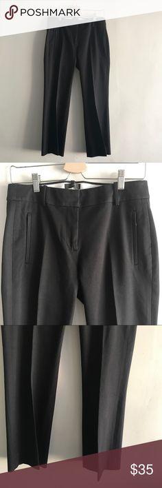 J. Crew Black Teddie Pants 4 Super cute and well made dressy pants. Black. Size 4. J. Crew Pants Straight Leg