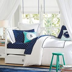**Belle's room/ full size day bed  **$1600.00/sale price $1300.00 (5/4) Elsie Daybed + Trundle #pbteen
