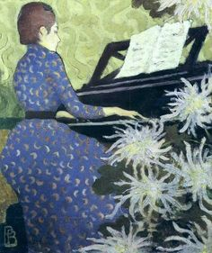 Pierre Bonnard, Andrée Bonnard au Piano on ArtStack #pierre-bonnard #art