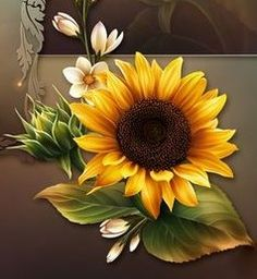 Sunflowers Flower Art Drawing, Sunflower Drawing, Watercolor Sunflower, Sunflower Art, Rose Flower Wallpaper, Sunflower Wallpaper, Sunflowers And Daisies, Sunflower Pictures, Autumn Painting