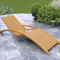 Relax in beautiful, natural comfort with this outdoor chaise lounge.