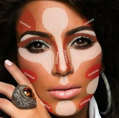 Kim Kardashian contour and highlighting...I NEVER knew this and it works fabulously!!