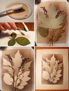 Nature Crafts, Fall Crafts, Diy And Crafts, Autumn Art, Leaf Art, Teaching Art, Fabric Painting, Art Tutorials, Diy Art