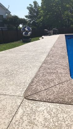 Call Exclusive Sundek Installer specializing in repair, refinishing & concrete overlay installation ideal for patios, driveway, pool decks, & more! Concrete Overlay, Concrete Walkway, Concrete Pool, Stamped Concrete, Kool Deck, Deck Repair, Pool Coping, Backyard Makeover, Pergola Patio