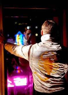 Ryan Gosling in Drive! I want this jacket!