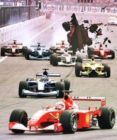 2001 German Grand Prix Accident. #Formula1 #f1 #cars #accidents