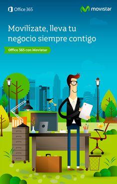 Realización de Ilustraciones corporativas para las campañas de Movilidad y Ofice 365 de Movistar, encargadas y dirigidas por la agencia DDB España. ver + en: http://raulgomez.es/portafolio/movistar-3/