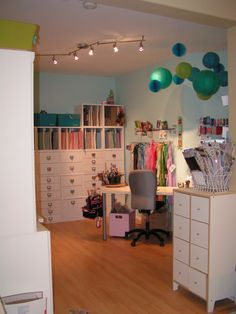 View from outside the room - Scrapbook.com  Perfect scrapbooking room!!