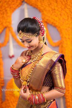 Engagement Photography, Photography Poses, Wedding Photography, Churidhar Designs, Blouse Designs, Telugu Brides, Bridal Makeover, Saree Photoshoot, Bride Portrait