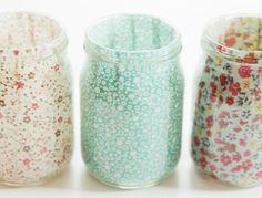 15 idee Shabby Chic per riutilizzare vecchi barattoli in vetro | Arredamento Provenzale