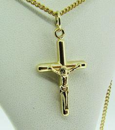 Estate Vintage 10k White Gold Laser Cut Unisex Cross Charm Pendant No Chain