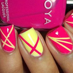 #notmine #stripes #cute #nails #colorful #colorblocking #fun #easy