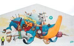 Street art work 'North pole for sale' by Dulk