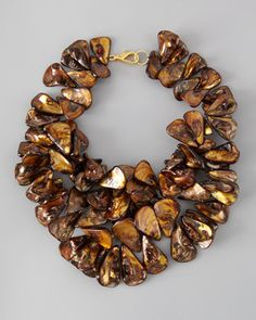 Brown Mother-of-Pearl Cluster Necklace by Nest at Neiman Marcus.