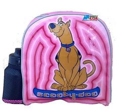 "Scooby Doo Small Toddler 10"" Cloth Backpack Book Bag Pack - Pink"