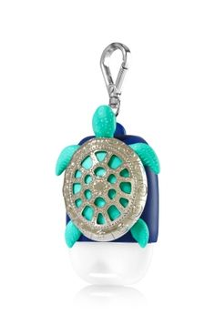 Turtle - PocketBac Holder - Bath & Body Works - A shiny metal shell makes this a terrific turtle for your PocketBac! The convenient clip attaches to your backpack, purse and more so you can always keep your favorite sanitizer close at hand.