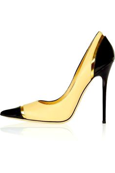 Jimmy Choo black & yellow pump