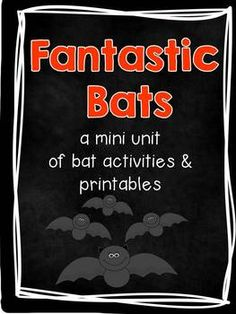 Bats aren't so bad! I do a bat study every year with my class and the students love learning about these unique mammals. This mini-unit contains some great activities for your study of bats! Writing activities, graphing, hallway displays, center work, the possibilities are endless!