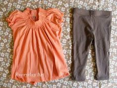 tutorial: how to make a dress for a baby from an old tee shirt.