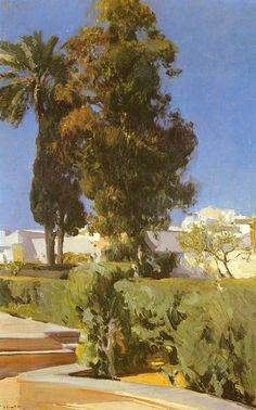 Joaquín Sorolla y Bastida (1863-1923). Gardens of the Alcázar, 1910
