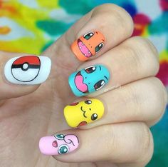 Acrylic nail art 646618458969522919 - Adorable Pokémon Go manicure! Nail Design, Nail Art, Nail Salon, Irvine, Newport Beach Source by Nail Art Disney, Disney Acrylic Nails, Cute Acrylic Nails, Trendy Nail Art, Cute Nail Art, Cute Nails, Diy Nails, Nails For Kids, Girls Nails