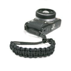 $32.00 Camera Wrist Strap - Black/Matte Black