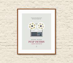 PULP FICTION: Minimalist Movie Posters. Pulp Fiction Poster. Pulp Fiction Movie. Alternative Movie Poster. Giclee Art Print.