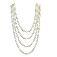 6.5-7.5 mm Freshwater Cultured Pearl Endless Necklace 100″ Review