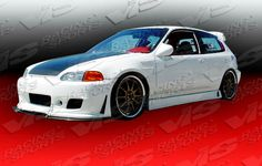 92-95 93 94 Honda Civic HB TSC3 Style Side Skirts by ViS