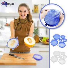 Silicone Stretch Lids Keep Fresh Food Pan Bowl Cup Dish Premium Cover 7598832619987 Cool Kitchen Gadgets, Cool Kitchens, Garden Supplies, Party Supplies, Microwave Recipes, Microwave Food, Pot Lids, Food Storage Containers, Unique Recipes
